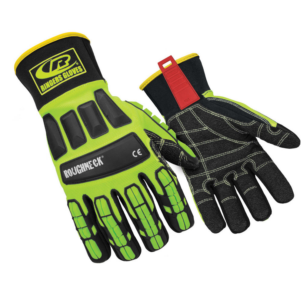 Ringers Gloves - Roughneck KevLoc Puncture Resistance Hi-Vis Gloves - 297
