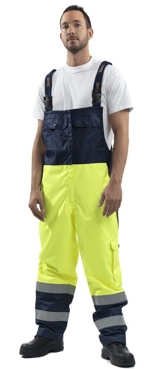Roots Full Option Fire Resistant Dungarees RO1527 Waterproof Hi Vis Work Bib & Brace