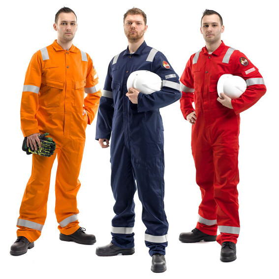 Roots RO18092 Flamebuster Mens FR Coverall Hi Vis Flame Retardant Work Overall