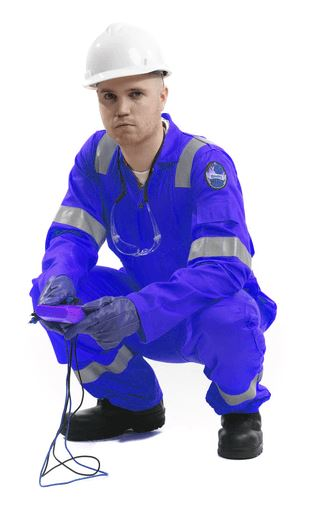 Roots RO13090 350gm Reflective Tape Flamebuster Nordic Coverall - Royal Blue