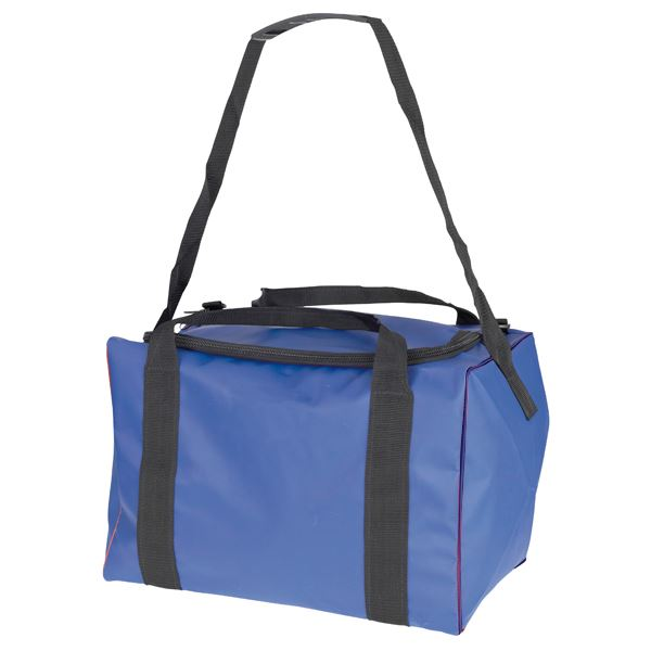 Alpha Solway Royal Blue PVC Holdall Bag 18x12x12""
