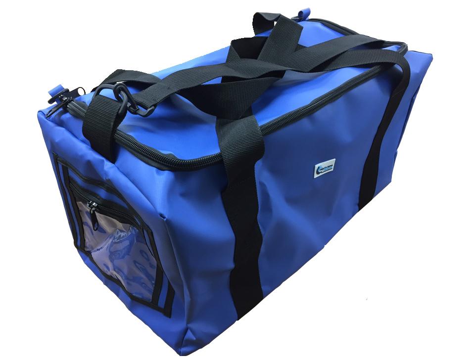 "Alpha Solway Royal Blue PVC Holdall Bag 24x12x12"" Blue"