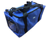 "Alpha Solway Royal Blue PVC Holdall Bag 24x12x12"" Blue"