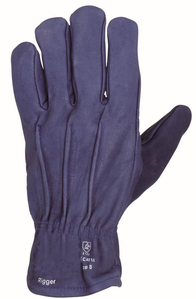 Arvello Navy Leather Driver Style Work Gloves EN 388