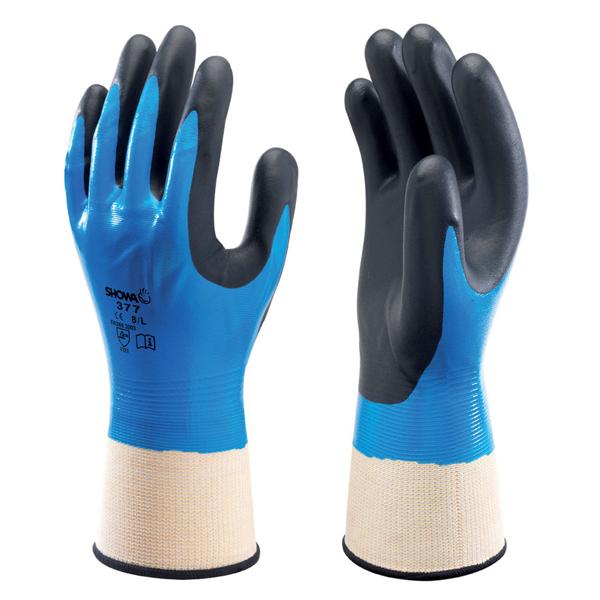 Showa 377 Foam Coated Nitrile Glove