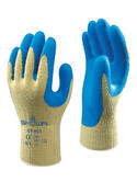 Showa GP-KV1 Cut Resistant Latex Coating Grip Seamless CUT-4 Safety Gloves