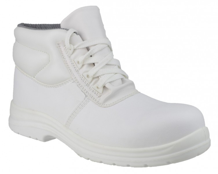 Siili Safety Anti-static Slip Resistant White Laced Safety Boot