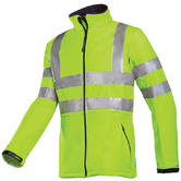 Sioen Genova 9833 Hi Vis Lightweight Windproof Softshell Yellow Jacket