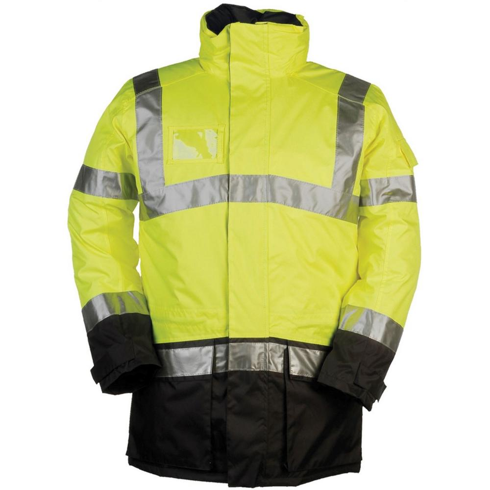 Sioen Lightflash 313A Polyester With PU Winter Rain Hi-Vis Yellow Jacket