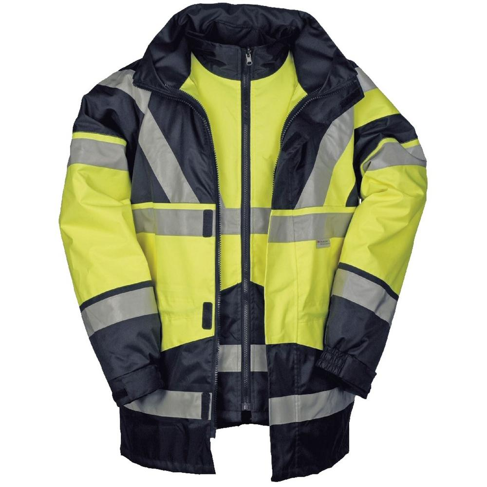 Sioen Skollfield Hi Vis Waterproof Jacket/ Bodywarmer Yellow 209A