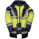 Sioen Skollfield 209A Hi Vis Waterproof 2 In 1 Jacket and Bodywarmer Work Parka