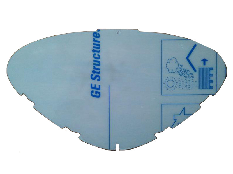 3M 080-80-19P5 Polycarbonate Replacement Visor for 800 Series Headtop Clear