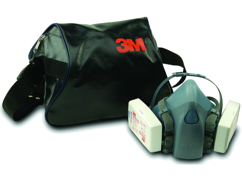 3M 106 Carry Case For Respirators & Half Face Mask Black