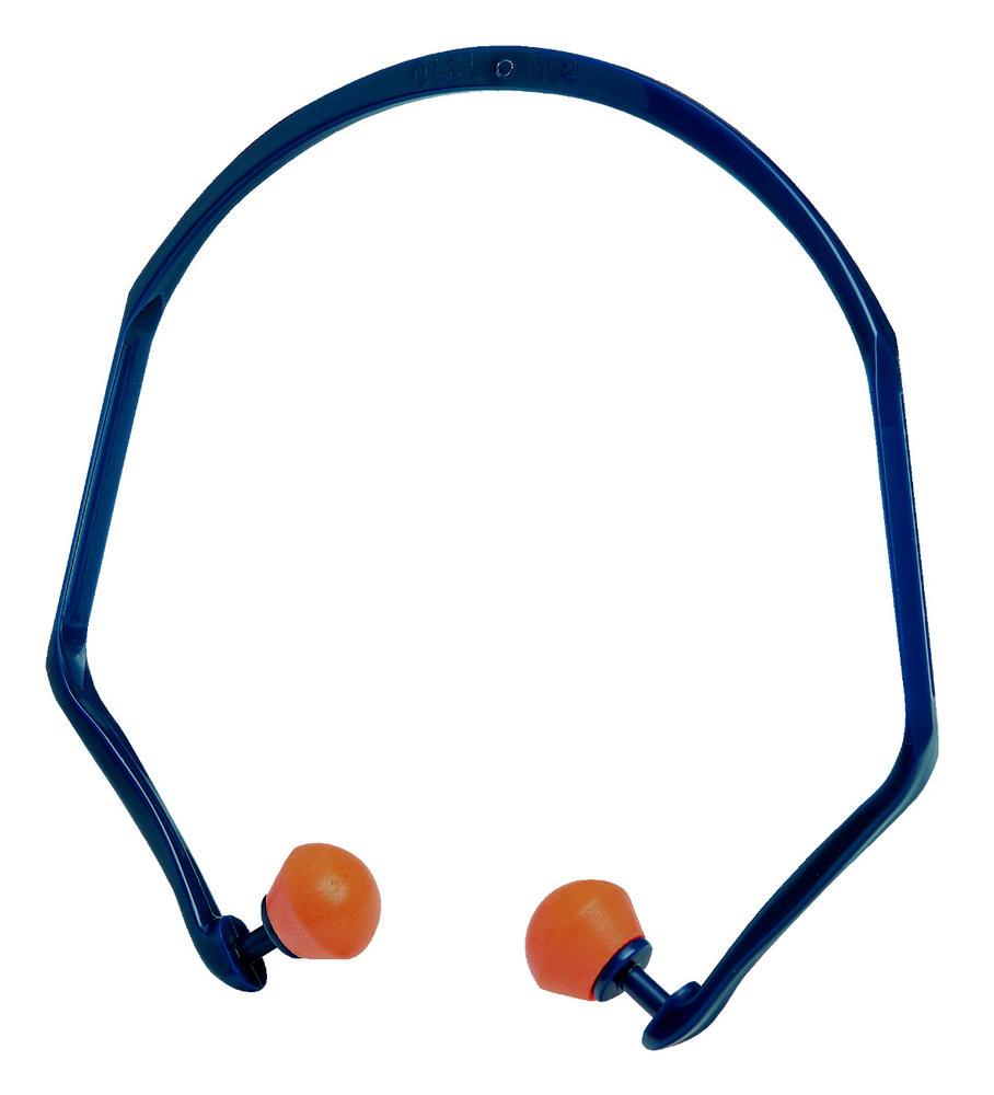 3M 1310 Banded Earplugs SNR 26db Orange