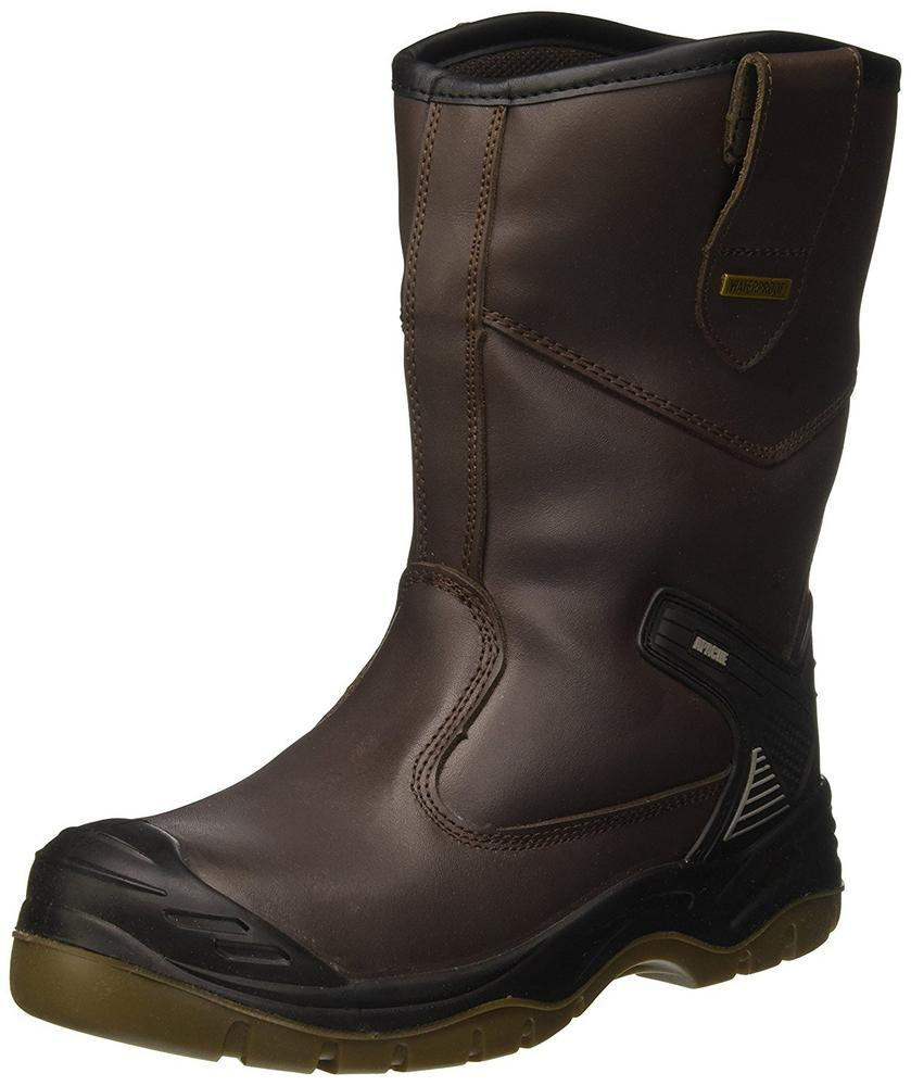 Sterling Apache AP305 Brown Leather Fleece Lined S3 Rigger Boots