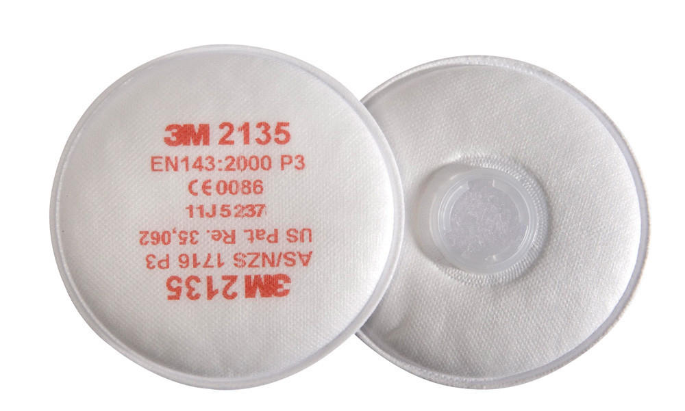 3M 2135 P2\P3 Particulate High Levels Fine Dust And Vapour Twin Disk Filters, Pack of 2