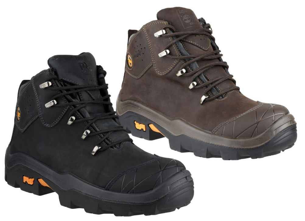 Timberland Snyders Safety Boots Black Brown