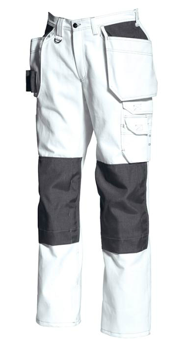 Tranemo White Cotton Craftsman Trousers 2050 13