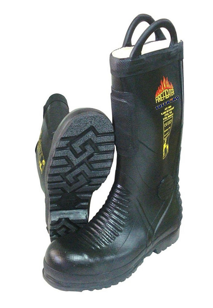 Tuffking 9684 Flame Retardant, Steel Toe Cap Firefighters Pull On Boot