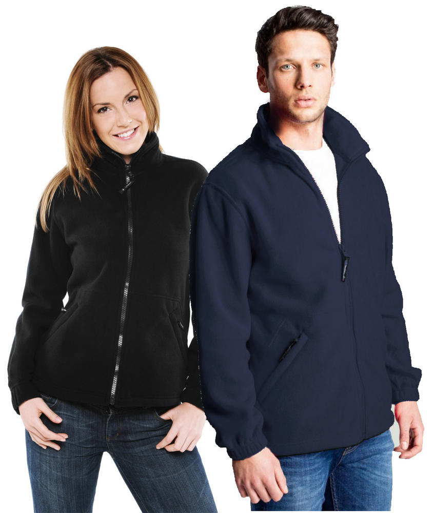 Uneek Full Zip 300gsm 100% Polyester Fleece UC604 - Navy & Black