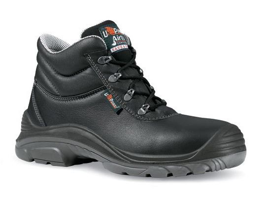 U-Power Easy wipe-Leather Enough S3 Black Safety Boot