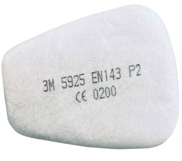 3M 5925 P2 Particulate Filters Pads - Pair