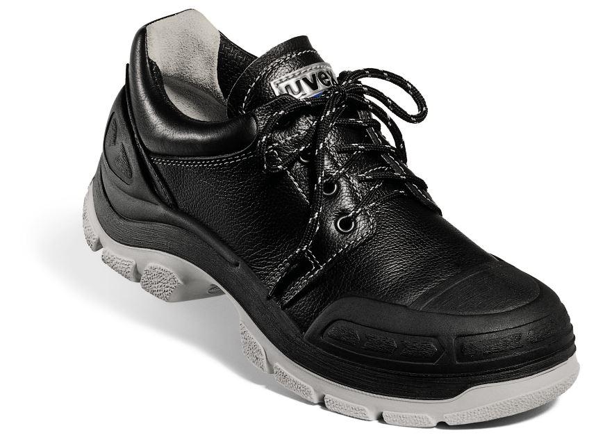 03d8173644b Uvex 8410 Quatro Black Water Resistant Safety Shoe Leather Black