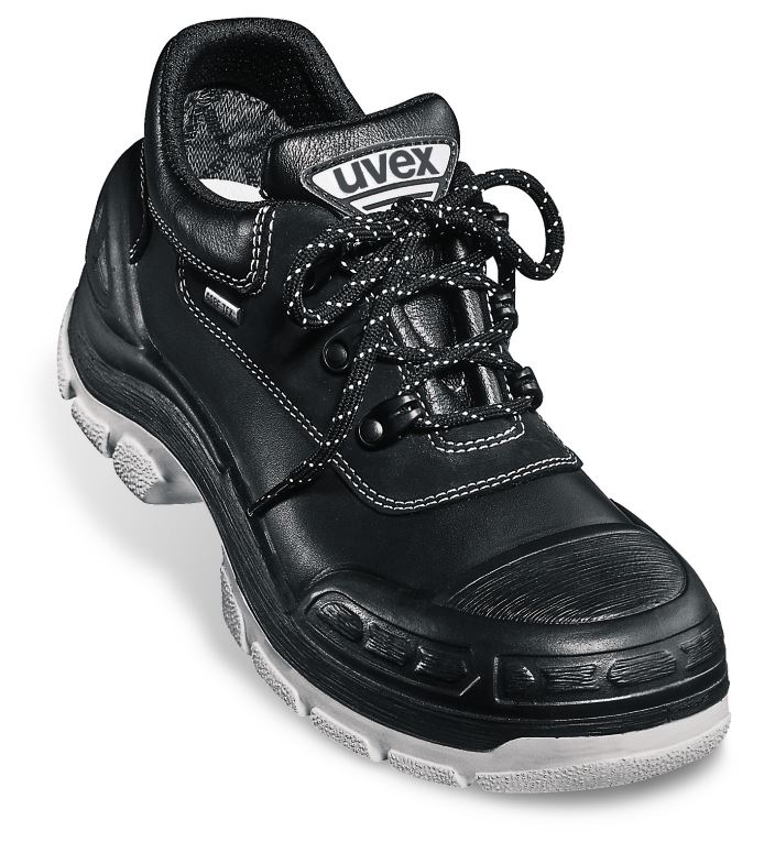 a4e205bc756 Uvex 8414 Quatro Black S3 Safety Shoe Hydrogel Insole Waterproof Leather  Black