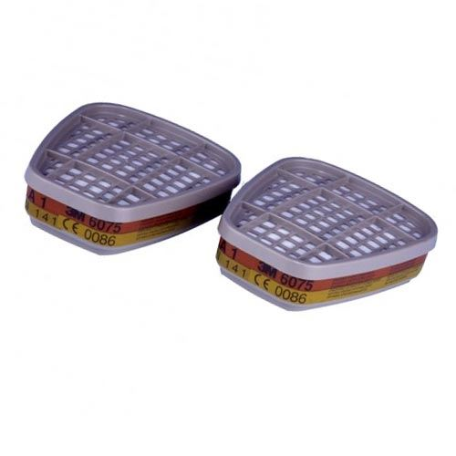 3M 6075 Gas Vapour A1 & Formaldehyde Twin Filters Cartridge for 3M Series 6000\7000
