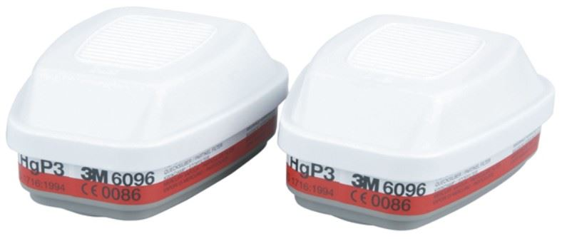 3M 6096 Gas, Vapour and Particulate Filter Pack A1HgP3 1 Pair
