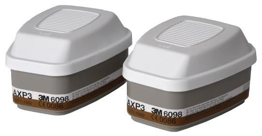 3M 6098 AXP3 R Gas Vapour and Particulate Filter Pack 1 Pair