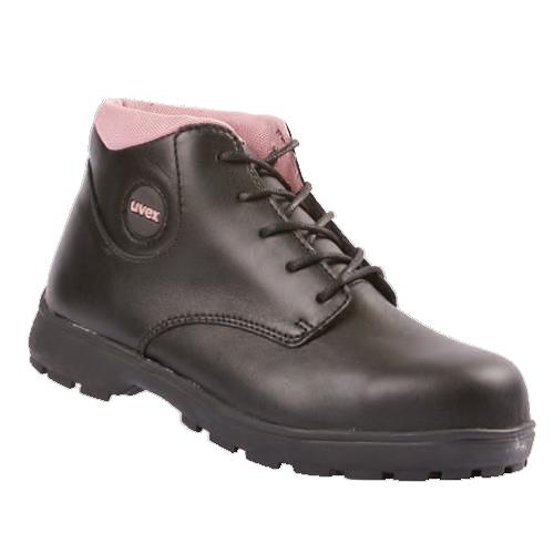 1db7f508ad5 Uvex Classic Black Womens Boot 9482 Leather Black Steel Toe And Midsole