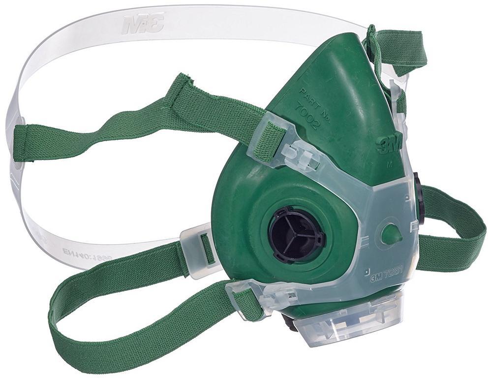 3M 7002 Rubber Half Mask Respirator Reusable Green