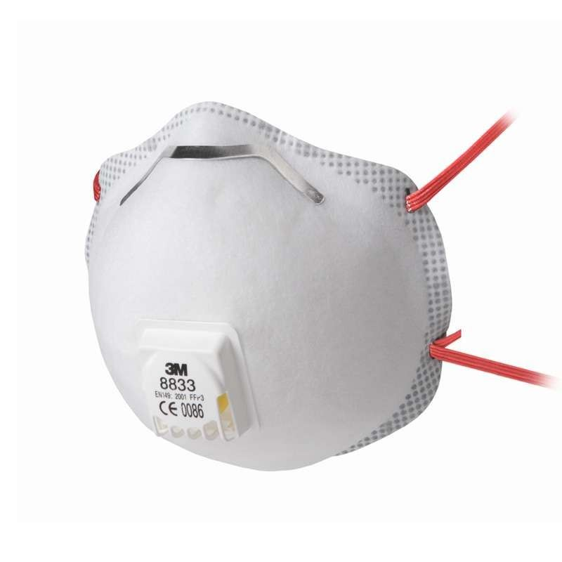 3M 8833 FFP3 Valved Respiratory Mask (10 Pack)