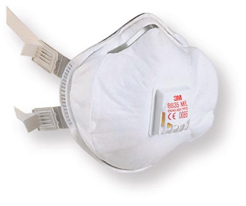 3M 8835 FFP3D Valved Respiratory Mask (5 Pack)