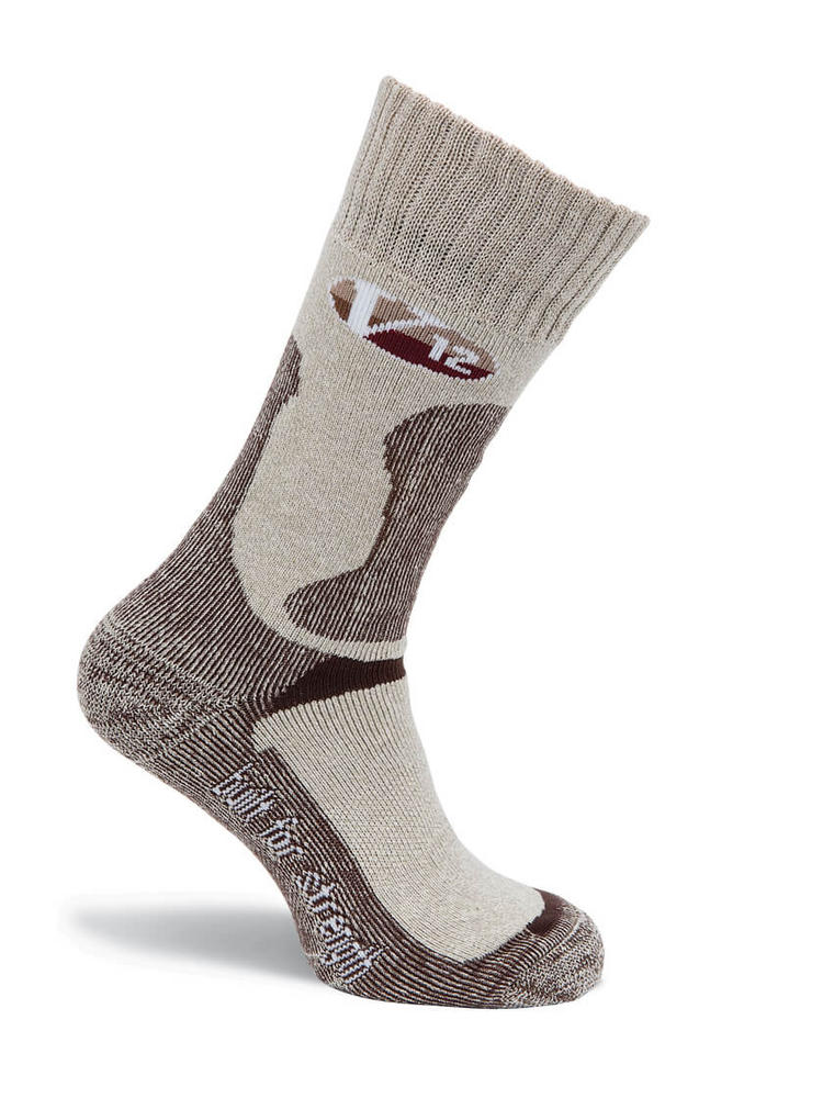 V12 Cotton Sock VSOK4 Soft Fawn Flecked Calf Length (10 Pack)