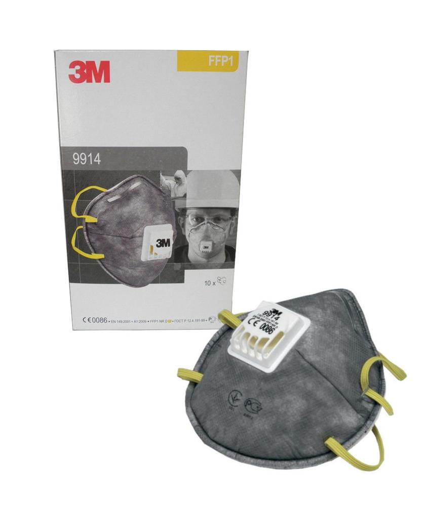3M 9914 Dust/Mist/Nuisance Odour Respirator FFP1 Valved Mask (10 Pack)