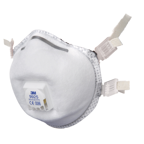 3M 9925 FFP2 Valved Respiratory Mask (10 Pack)