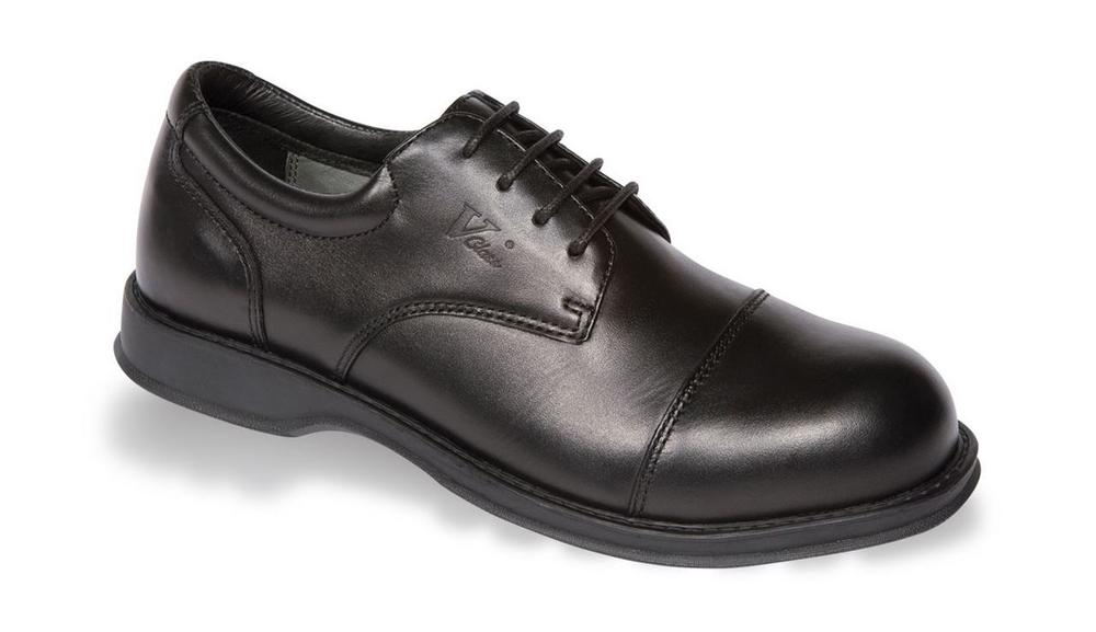 V12 Envoy Black Executive Oxford Safety Shoe VC101 Leather Steel Toe Cap Men's S1