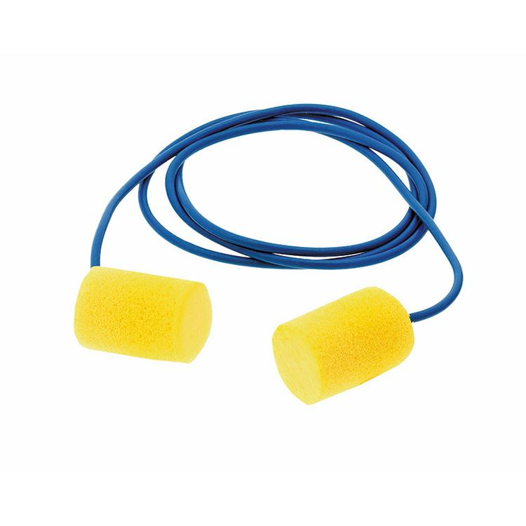 3M E.A.R. Classic Foam Earplugs Corded SNR 29dB CC-01-000 Box of 200 Pairs