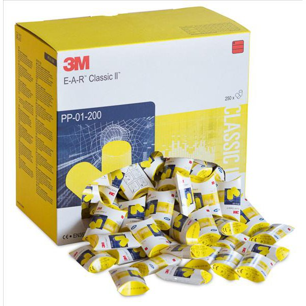 3M E-A-R Classic Earplugs PP-01-002 [Box of 250]