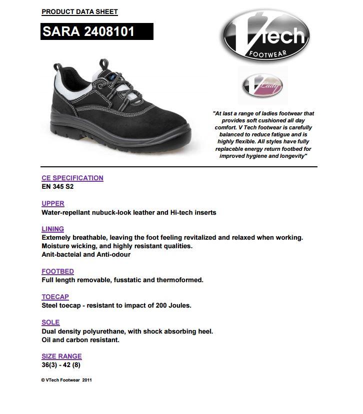 V12 VTech Sara Graphite Womens Shoe 2408101