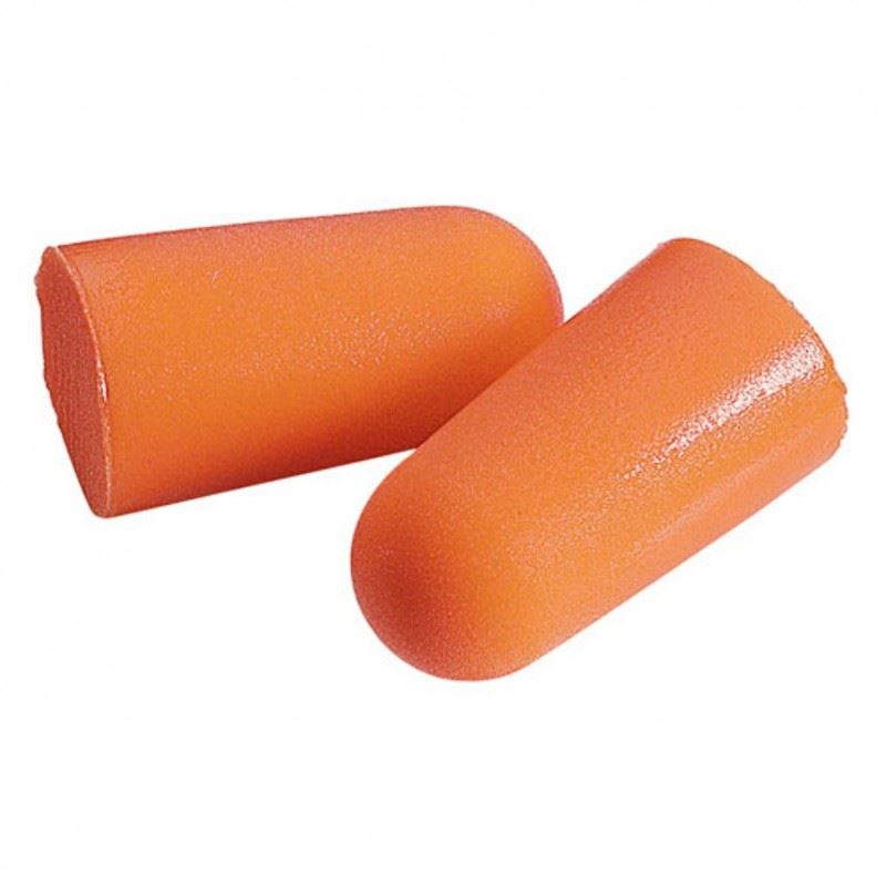 3M Foam Disposable Earplugs 1100R SNR=37dB Orange Refill Bag X 500
