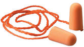 3M Foam Disposable Earplugs 1110 Corded SNR=37dB Orange Box of 100
