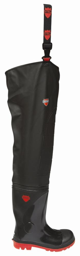 Vital Stream Thigh Safety Wader VW162R Welded Seams PVC S5