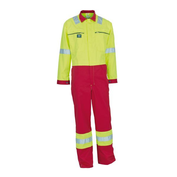 Wenaas 2 Tone red yellow Hi Vis overall 300gm