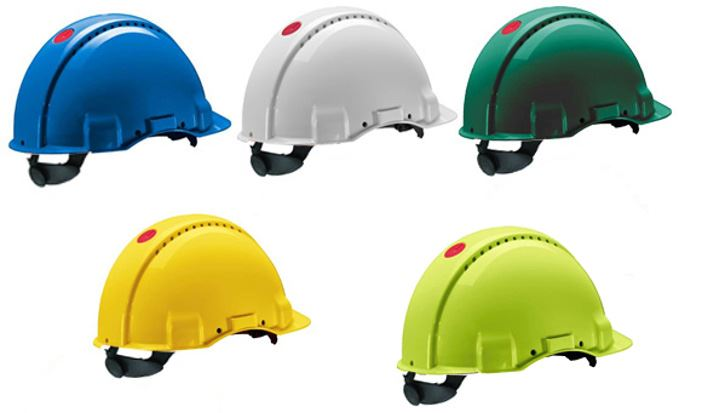3M Peltor G3000 Safety Helmet Vented Uvicator Various Colours