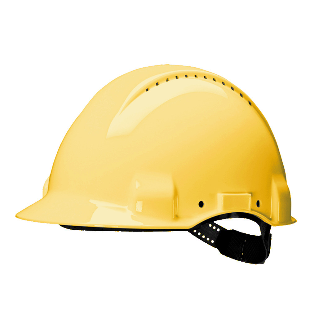 3M Peltor G3000CUV-GU Vented ABS Hard Hat Safety Helmet - Yellow