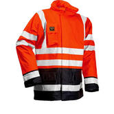Wenaas 95353 Flame Resistant Hi Vis Waterproof Jacket Orange/Navy