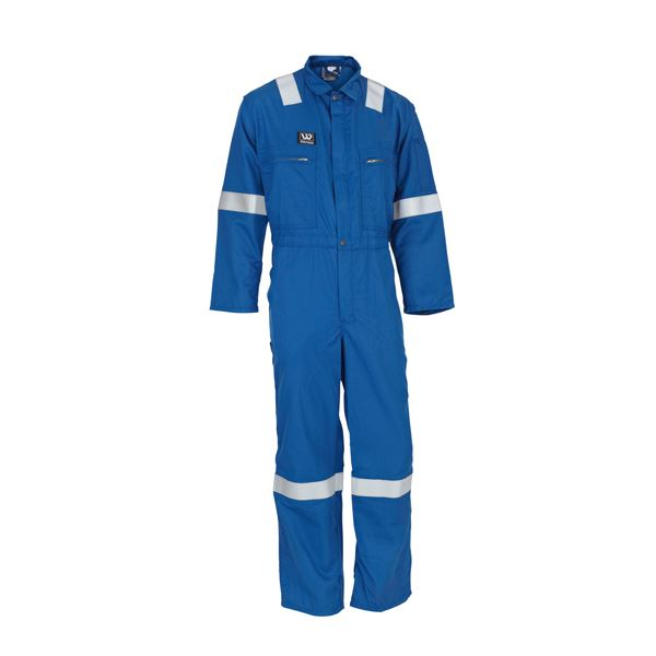 Wenaas Aramid Nomex Comfort FR Royal Coverall, 190gm with reflective tape